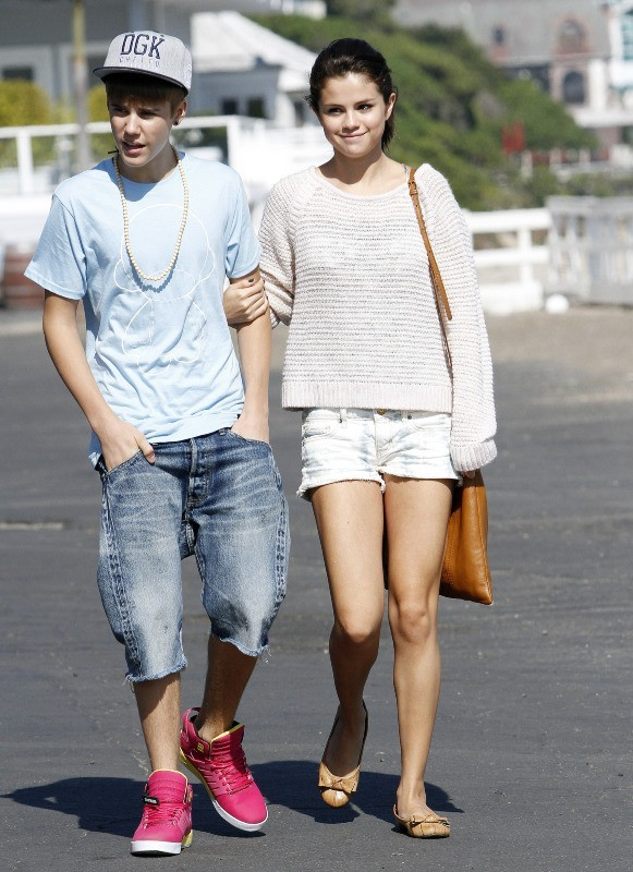 Justin Bieber et Selena Gomez le 23 septembre 2011 à Malibu