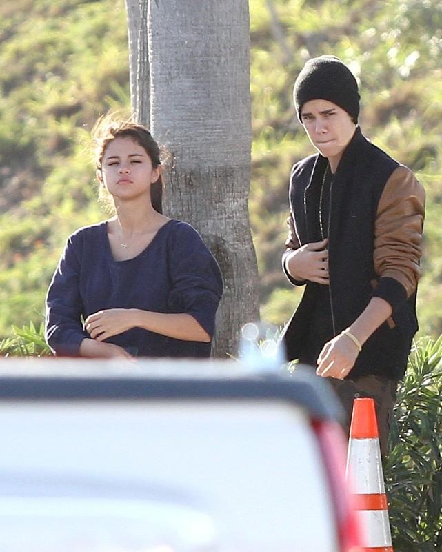 Justin Bieber rend visite à Selena Gomez sur le tournage de Spring Breakers, le 12 mars 2012