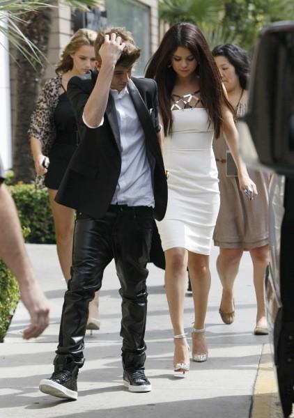 Selena Gomez et Justin Bieber, Los Angeles, 22 septembre 2012.