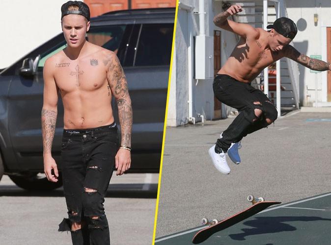 Justin Bieber fait tomber le haut pour montrer ses talents de skateur !