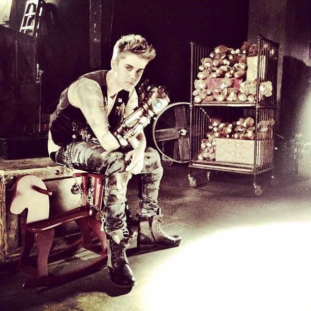 Le nouveau Justin en plein tournage !