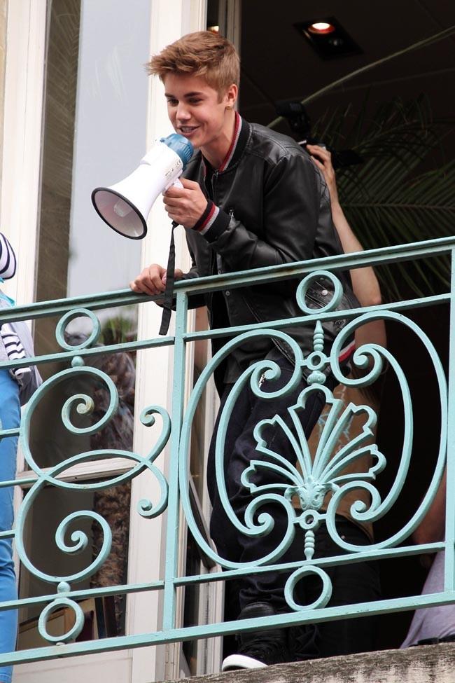 Justin Bieber le 1er juin 2012 à Paris