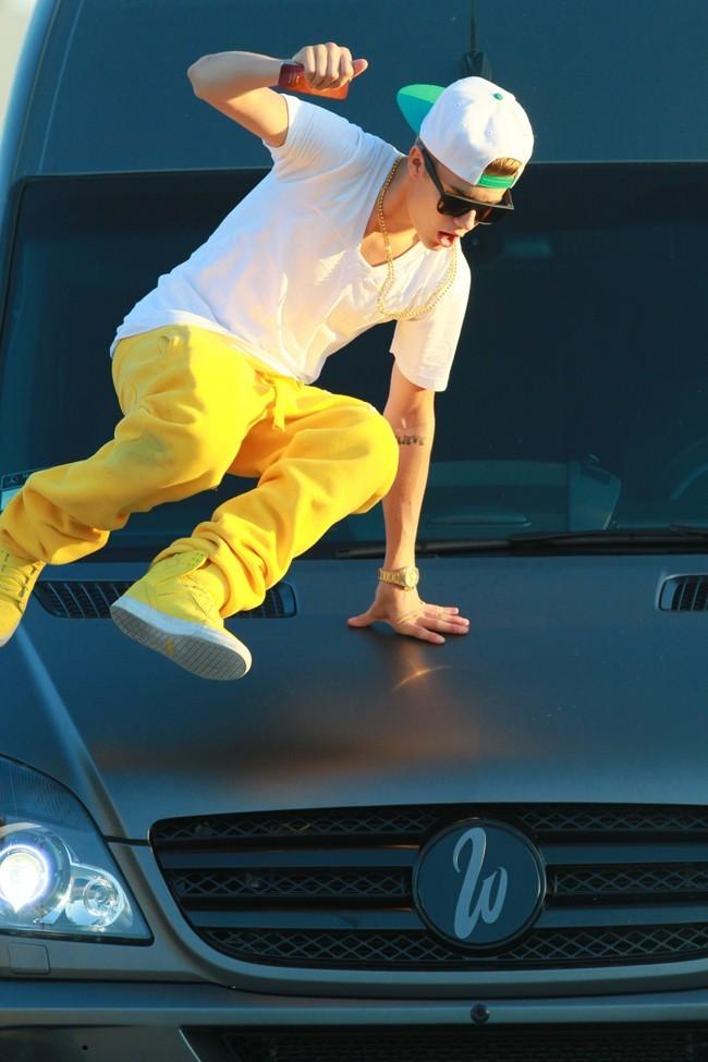 Justin Bieber, Los Angeles, 26 aout 2012.