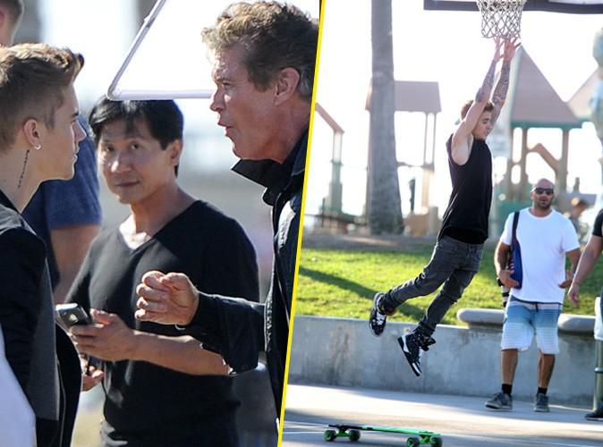 Justin Bieber et David Hasselhoff le 23 septembre 2014