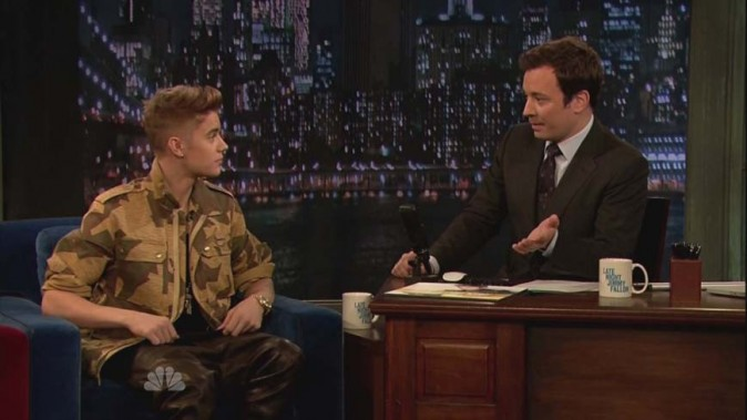 Justin Bieber dans l'émission Late Night de Jimmy Fallon le 6 février 2013