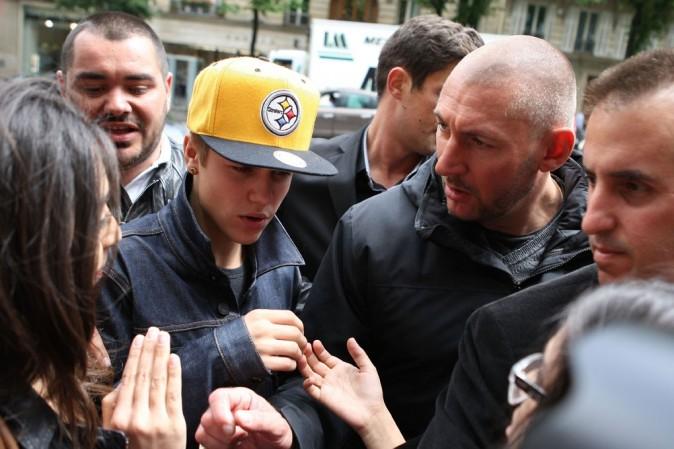 Justin Bieber à son arrivée à Paris le 31 mai 2012 !