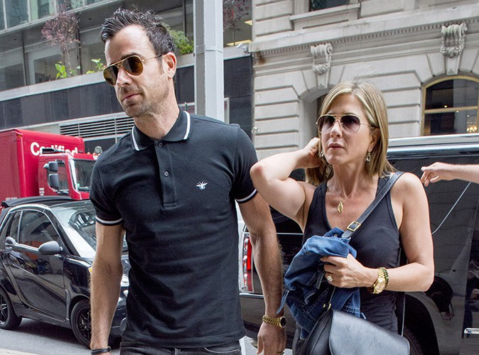 Justin Theroux et Jennifer Aniston à New York le 24 juin 2014