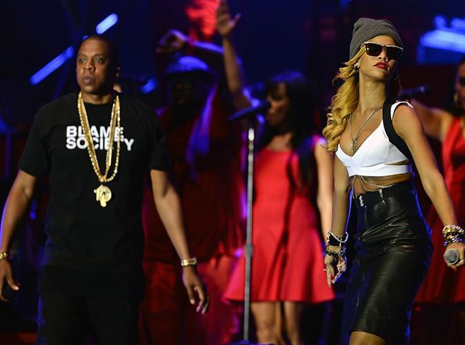 Rihanna et Jay-Z au Yahoo! Wireless Festival de Londres, le 14 juillet 2013