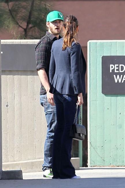Jessica Biel et Justin Timberlake à Los Angeles, le 10 février 2012.