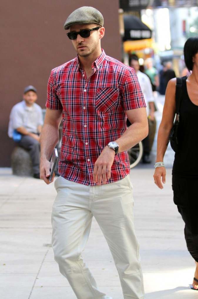 Justin Timberlake en balade à New York, le 9 septembre 2011.