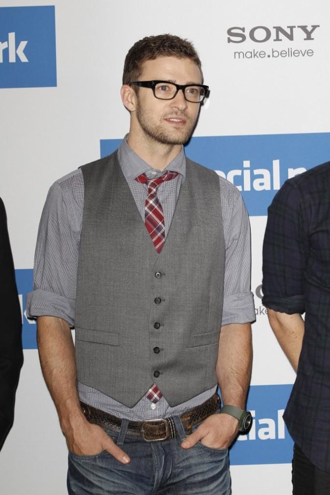 Justin Timberlake lors de la première de The Social Network à Berlin, le 5 octobre 2010.