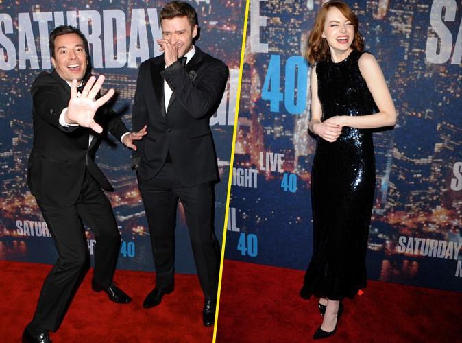 Photos : Justin Timberlake, Jimmy Fallon, Emma Stone... Les stars dans tous leurs états aux 40 ans du SNL !