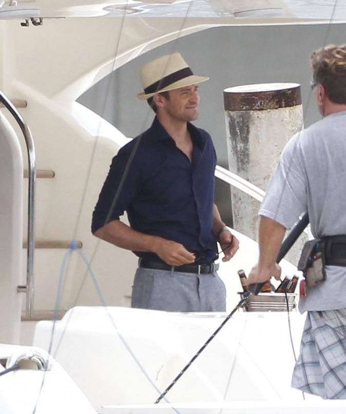 Justin Timberlake sur le tournage de Runner Runner à Porto Rico, le 26 juin 2012.