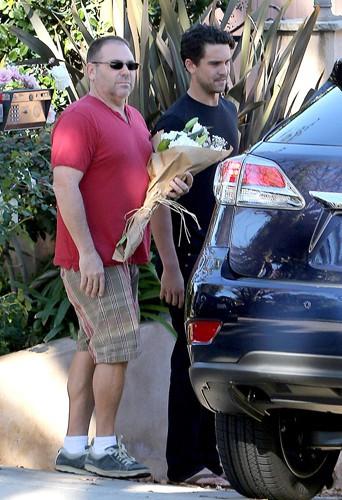 Ryan Sweeting en famille à Los Angeles le 23 décembre 2013