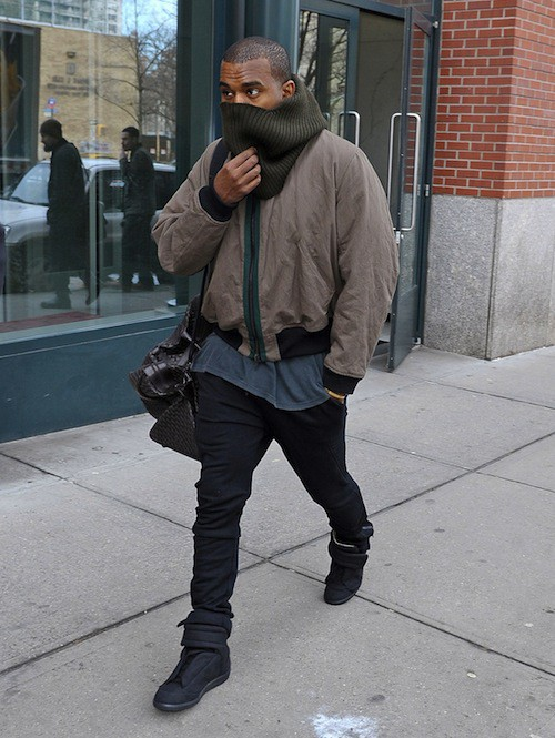Kanye West, hiver, emmitouflé, look, style, Kim Kardashian
