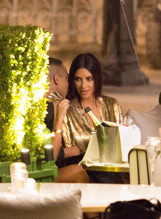 Le duo Olivier Rousteing et Kim Kardashian à l'after Show Balmain à Paris le 29/09/16