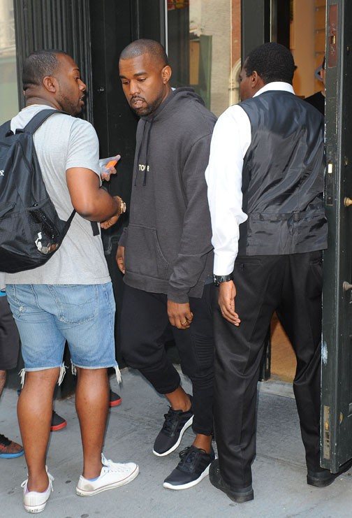 Kanye West à New-York le 3 juin 2014