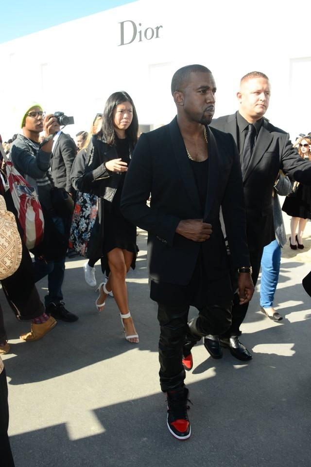 Kanye West au défilé Christian Dior le 28 septembre 2012 à Paris