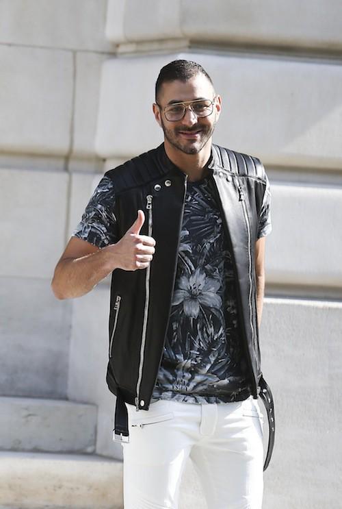 Karim Benzema au défilé Balmain Homme à Paris, le 27 juin 2015!