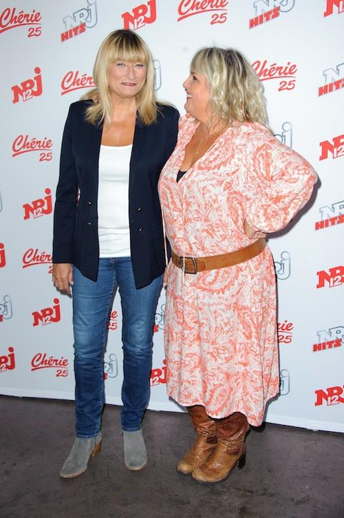 Christine Bravo et Valérie Damidot chez NRJ 12, le 27 août 2015