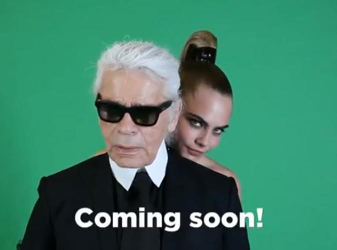 Photos : Karl Lagerfeld et Cara Delevingne : ils prennent la pose pour leur nouvelle collaboration avec Melissa !