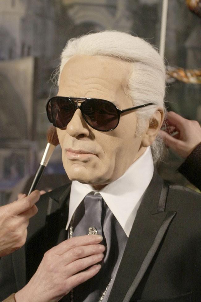 La statue de cire de Karl Lagerfeld dévoilée le 7 juin 2012 à Hambourg