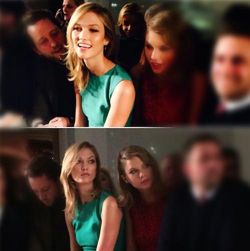 Karlie Kloss et Taylor Swift au défilé Oscar de la Renta à new York, le 17 février 2015