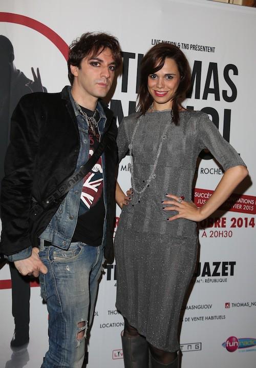 Melissa Mars et Mikelangelo Loconte au spectacle de Thomas Ngijol à Paris le 27 octobre 2014
