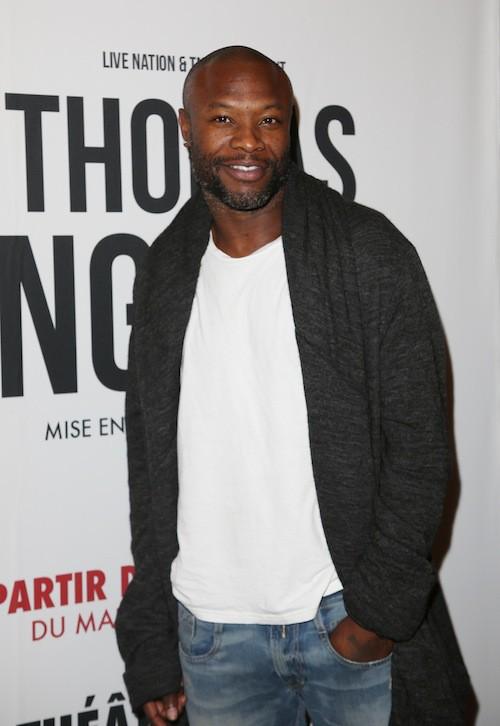 William Gallas au spectacle de Thomas Ngijol à Paris le 27 octobre 2014