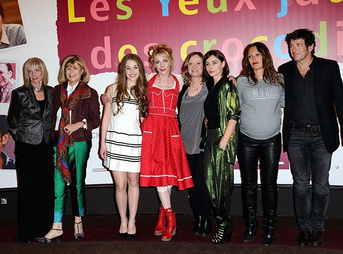 """L'équipe du film """"Les yeux jaunes des crocodiles"""" à Paris le 31 mars 2014"""