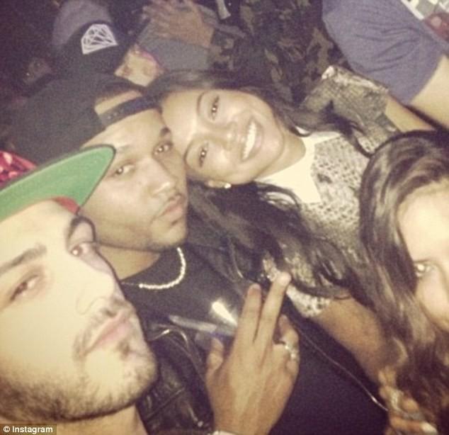 Karrueche Tran et J. Ryan La Cour en soirée au Hyde nightclub à Los Angeles, le 10 février 2013.