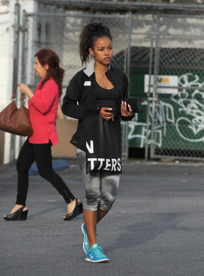 Photos : Karrueche Tran : l'ex de Chris Brown s'affiche avec une petite mine !