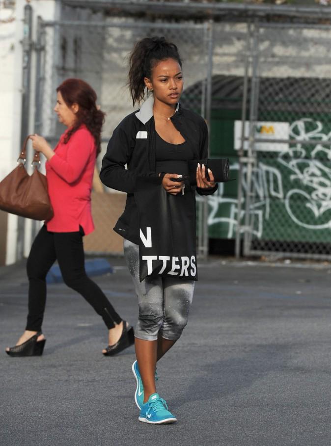 Photos : Karrueche Tran : l'ex de Chris Brown s'affiche avec une petite mine !
