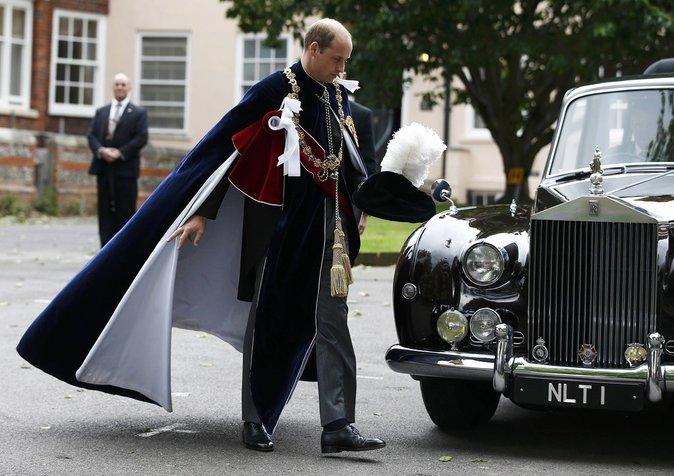Le Prince William à l'office annuel donné pour l'Ordre de la Jarretière