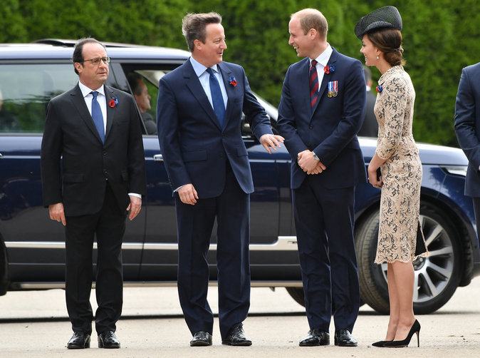 Kate et William de Cambridge assistent aux commémorations du centenaire de la bataille de la Somme, le 1er juillet 2016