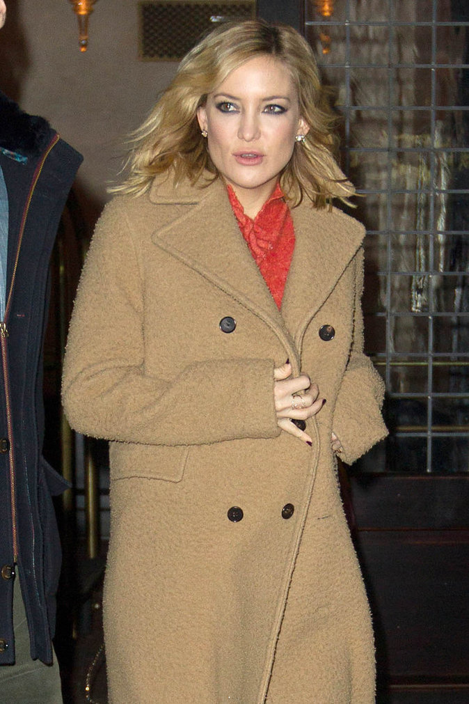 Photos : Kate Hudson brave le froid de New York pour la promo de Kung Fu Panda 3