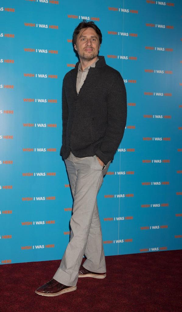 Zach Braff à Londres le 18 septembre 2014