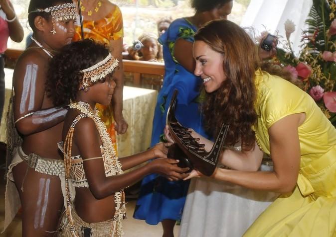 Kate Middleton le 17 septembre 2012 à Honiara, dans l'île de Guadalcanal
