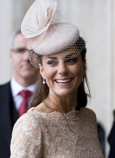 Kate Middleton arrivant à la cathédrale St Paul, le 5 juin 2012.