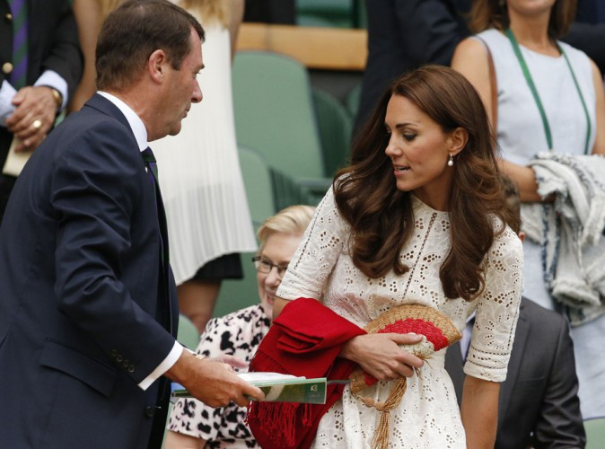 Philip Brook et Kate Middleton au tournoi de Wimbledon le 2 juillet 2014
