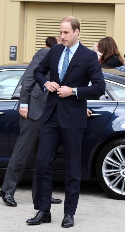 Le prince William dans les studios Warner à Leavesden, le 26 avril 2013.