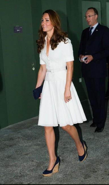 Kate Middleton dans les Jardins de la Baie à Singapour, le 12 septembre 2012.