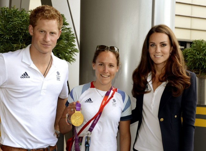 Le prince Harry et Kate Middleton rendent visite au Team GB à Stratford, le 9 août 2012.