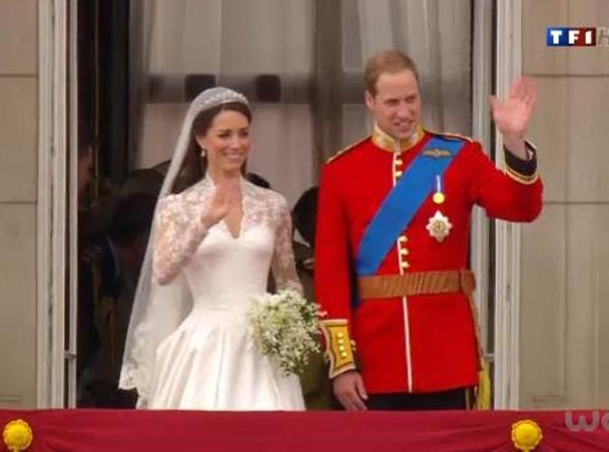 Kate Middleton et le prince William au balcon de Buckingham Palace à Londres, le 29 avril 2011.