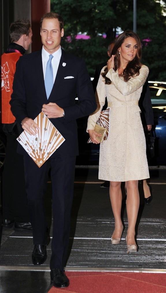 Le Prince William et Kate Middleton à la cérémonie d'ouverture des Jeux Paralympiques le 29 août 2012