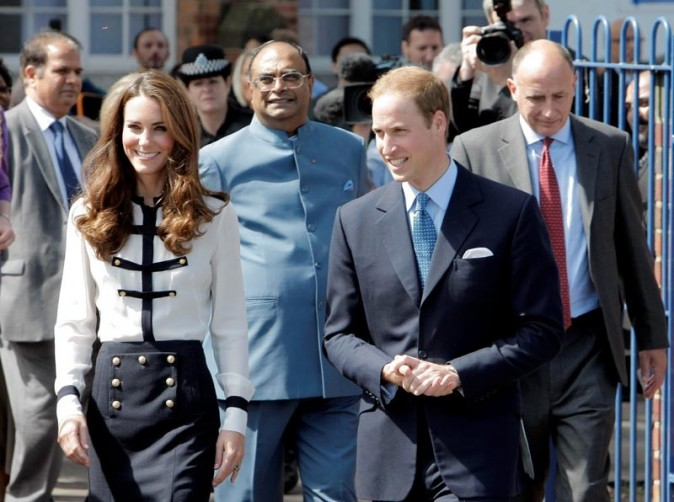 Kate et William en visite à Birmingham..