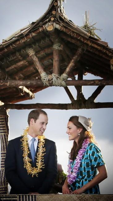 Kate Middleton et le Prince William, Iles Salomon, 16 septembre 2012.