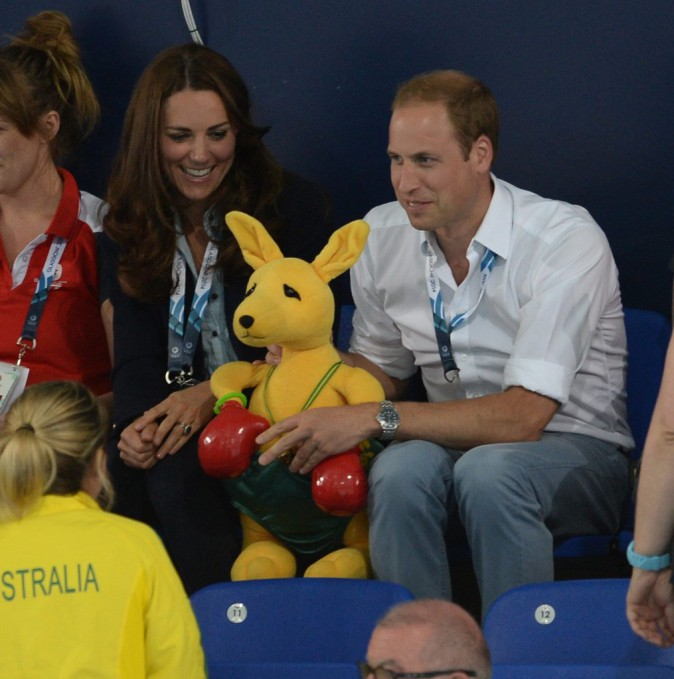 Kate Middleton et Prince William aux Jeux du Commonwealth, le 28 juillet 2014