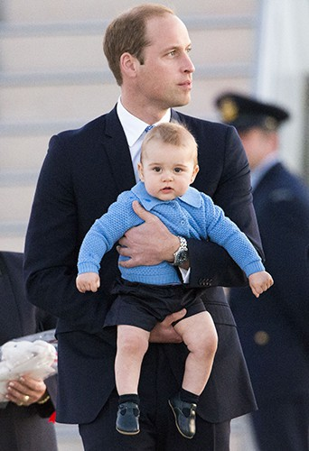 Le Prince William et son petit George à Canberra le 20 avril 2014