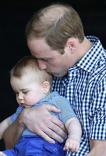 Le Prince William et son petit George à Sydney le 20 avril 2014